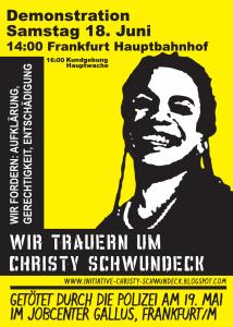 Trauer Demo um Christy in Ffm