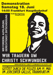Trauer Demo um Christy in Ffm